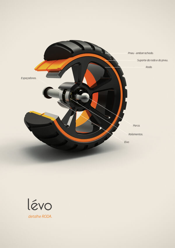 levo multipurpose cart4 Multipurpose Cart Concept For Shopping