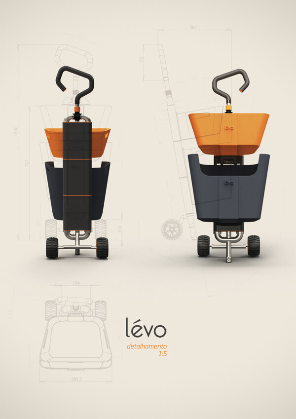 levo multipurpose cart8 Multipurpose Cart Concept For Shopping