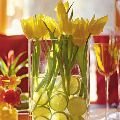 limes tulips decor 5 Design Ideas to Decorate Your Home for Spring