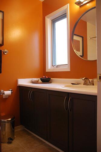 Orange Bathroom Model Orange Bathroom Model And Design