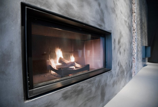 modern fireplace 600x409 11 Great Examples of Fireplaces Design