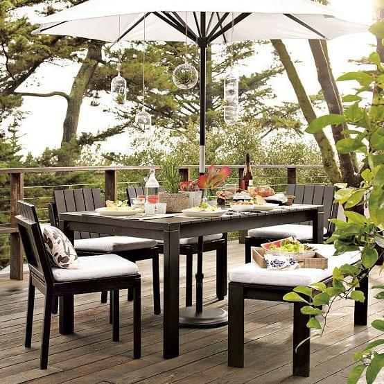 modern outdoor table 15 Modern Furniture Ideas for Inviting Outdoor Spaces