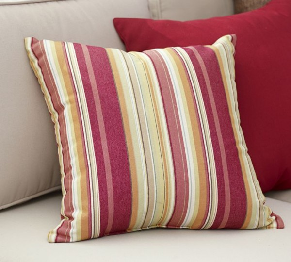 outdoor pillows colorful stripes 600x540 20 New Outdoor Pillows Models from Pottery Barn