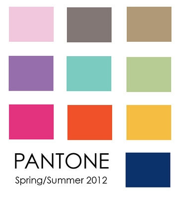 pantone color palette spring2012 10 Most Prominent Hues for Spring 2012