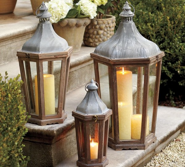 20 decor ideas to enhance your lovely outdoor spaces for Pottery barn lantern string lights
