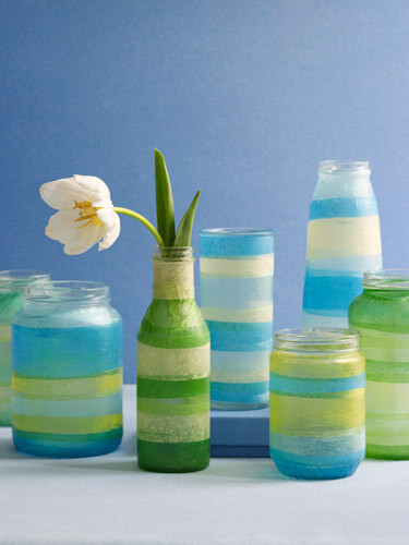 striped vases ideas spring 5 Design Ideas to Decorate Your Home for Spring