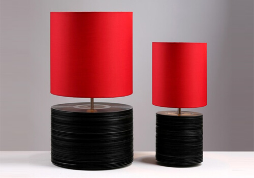 vynil records recycled lamps 22 Decorative Objects Ideas Using Old Vinyl Records