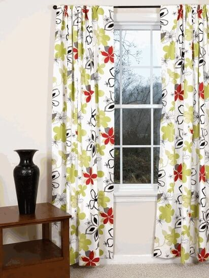 12 beautiful spring window treatments ideas interior for Flowery curtains design