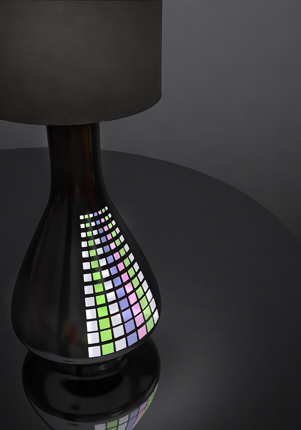 glowing pearl lamp City Lamp with Glowing Pearl Lights Transforms Interiors