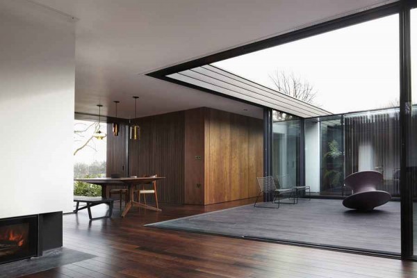 kingsley place house living room 600x400 Contemporary Architecture of a House in London