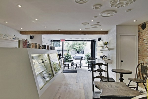 pastry boutique interior design france 600x400 Enchanting Interior Design for a Pastry Shop in Montreal
