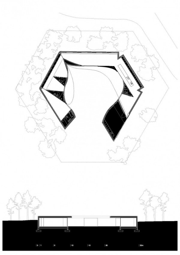 1325556780 detailed plan page 001 706x1000 600x849 Hexagonal Shaped Contemporary House in Portugal