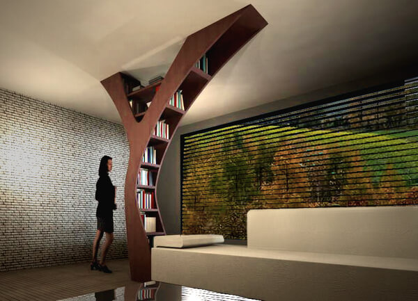 YULE An Alternative To Conventional Bookshelf Designs