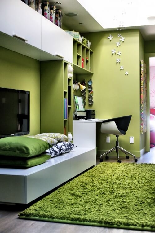 366110 0 8 9021 contemporary home office How to use Green Color for Interior Design