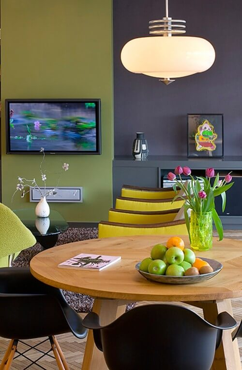 84050 0 8 6240 contemporary dining room How to use Green Color for Interior Design