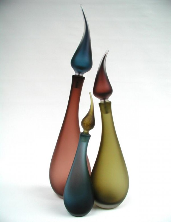 Glass Bottles Flame 600x780 Distinctive and Contemporary Glass Bottles Collection by LoCo Glass