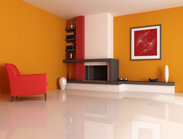 Orange Living room Living Room Paint Ideas