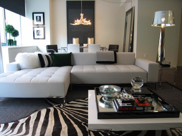 Zebra print rug interior design nyc 600x450 Animal Prints to Spice Up Your Interiors