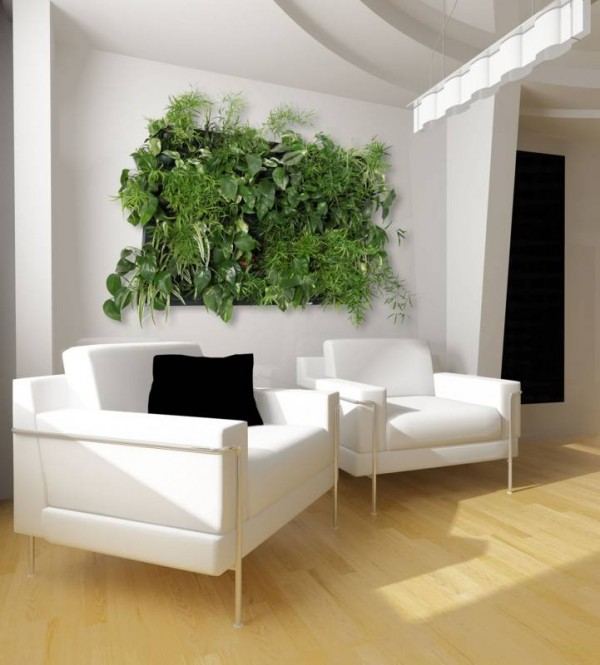 flowall 600x665 Add Greenery to Your Interior Space Using Vertical Gardens