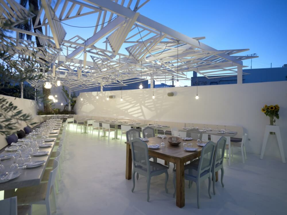 Phos greek restaurant in mykonos greece interior