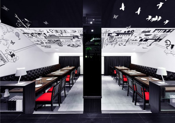 The Loft by Joey Ho Design Studio 2 600x421 The Loft Restaurant by Joey Ho Design