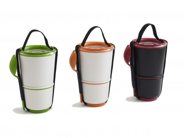 lunch pot 3 colours 600x450 The Most Fashionable Storage Containers for Food by Black and Blum