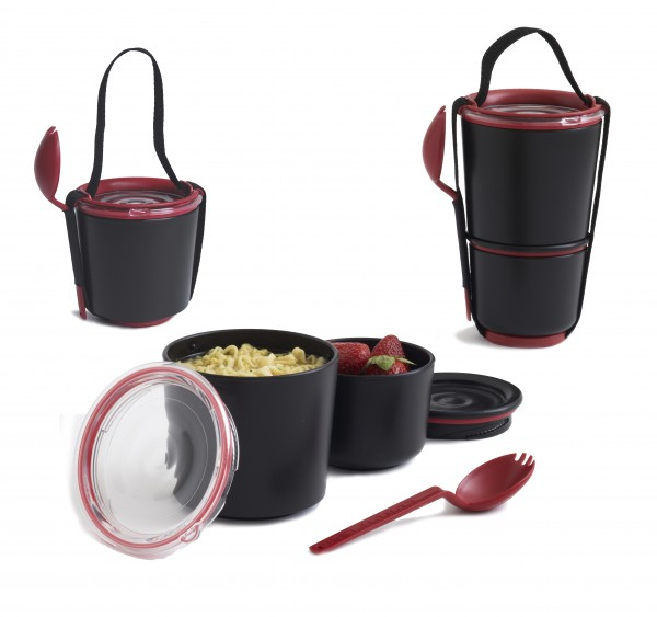 lunch pot black food copy 600x563 The Most Fashionable Storage Containers for Food by Black and Blum