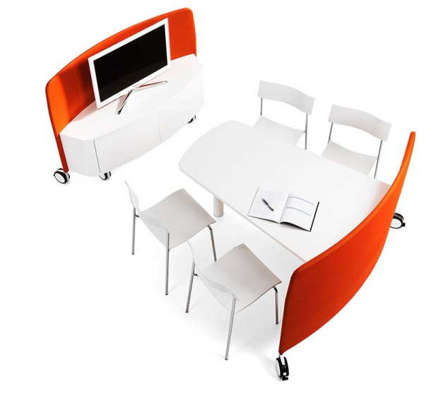 Innovative mobile workplace by abstracta interior design - Mobile office desk ...