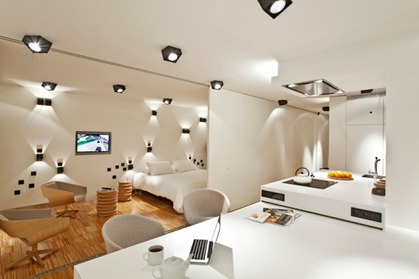 spain apartment 16 600x400 Contemporary Apartment in Spain: Sleek Penthouse With 3 Terraces