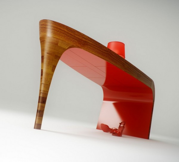 stiletto desk 200911 03 940x849 600x541 Sensational Hand Sculpted Stiletto Desk by Splinter Works