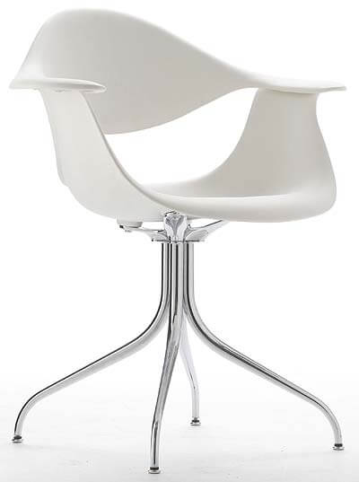 White Desk Chair by George Nelson  Interior Design Design News