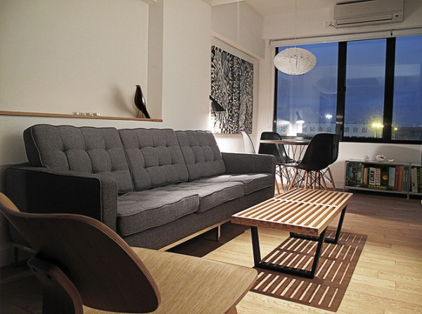 Small 32 square meter apartment design transformed by for Living room 10 square meters