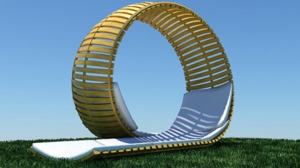 Chaise Longue Loopita Bonita 02 600x337 Loopita Bonita: Outdoor Double Lounger with a Roller Coaster Look