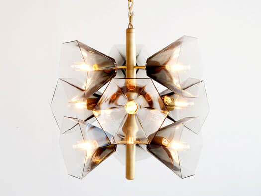 Glass Chandelier Margot George by Egg Collective 01 Nature Inspired Glass Chandelier with Contemporary Design