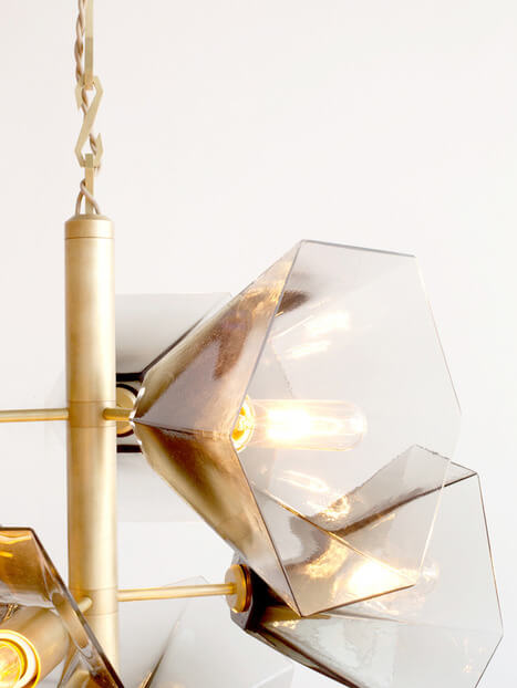 Glass Chandelier Margot George by Egg Collective 02 Nature Inspired Glass Chandelier with Contemporary Design