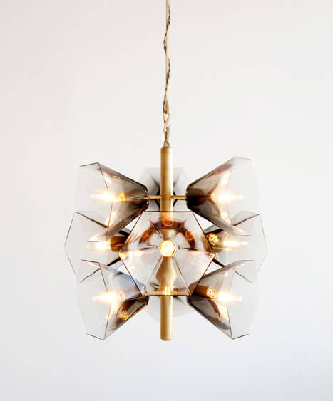 Glass Chandelier Margot George by Egg Collective 03 Nature Inspired Glass Chandelier with Contemporary Design