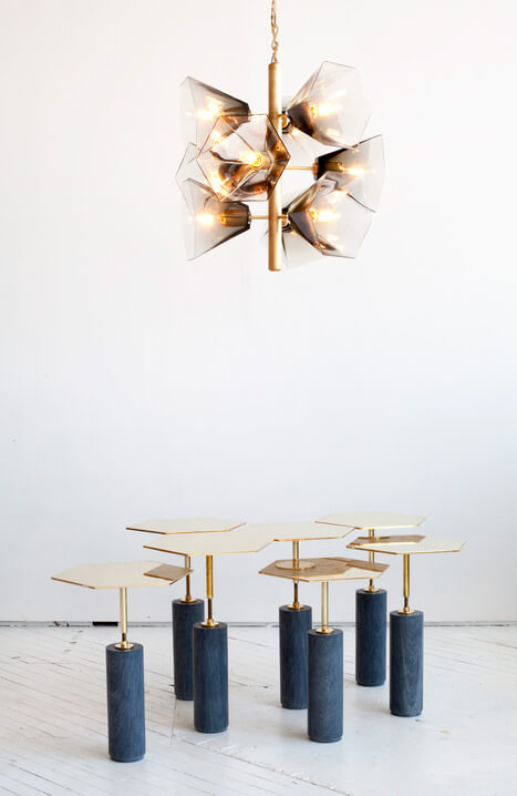 Glass Chandelier Margot George by Egg Collective 04 Nature Inspired Glass Chandelier with Contemporary Design