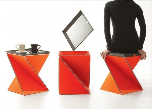 Origami Inspired Folding Stool By Yves Behar Interior