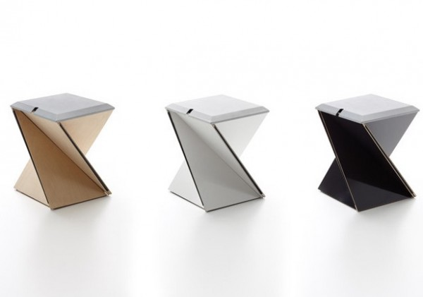 Kada Stool by fuseproject 04 600x421 Origami Inspired Folding Stool by Yves Behar