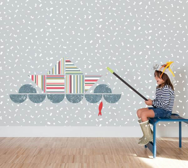 Kids Patchwall Wallpapers 3 Creative Wallpapers Collection for Kids Room by Tres Tintas
