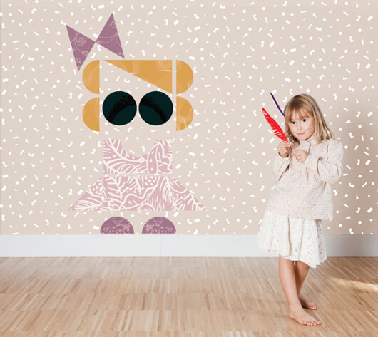 Kids Patchwall Wallpapers 4 Creative Wallpapers Collection for Kids Room by Tres Tintas