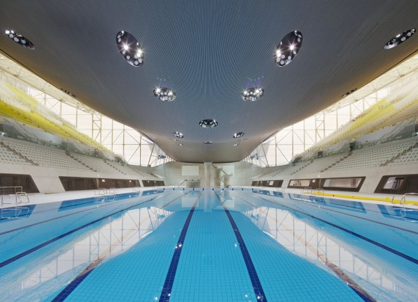 London Aquatics Centre 03 600x434 London 2012: The New Olympic Aquatics Centre