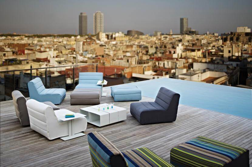Contemporary Outdoor Lounge Furniture: Nomad By Gloster