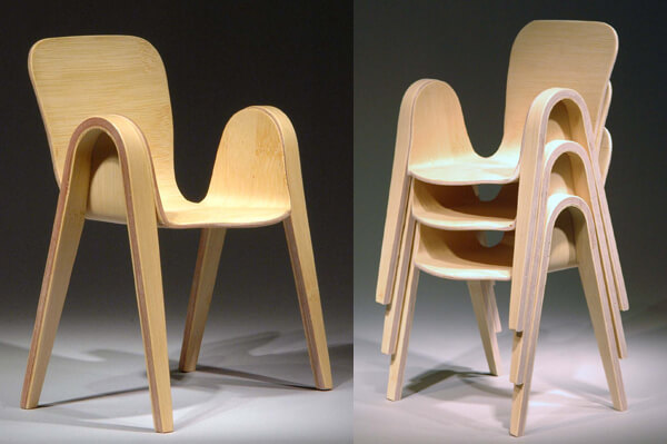 Pico Chair with rounded corners 01 Creative Rounded Edges Chair by Po Shun Leong
