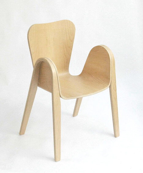 Pico Chair with rounded corners 02 Creative Rounded Edges Chair by Po Shun Leong