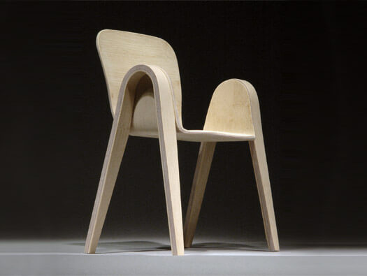 Pico Chair with rounded corners 03 Creative Rounded Edges Chair by Po Shun Leong