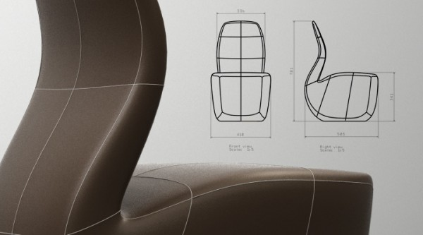 Pipe Inspired Chair by Yaroslav Rassadin 04 600x333 Pipe Chair Concept by Yaroslav Rassadin