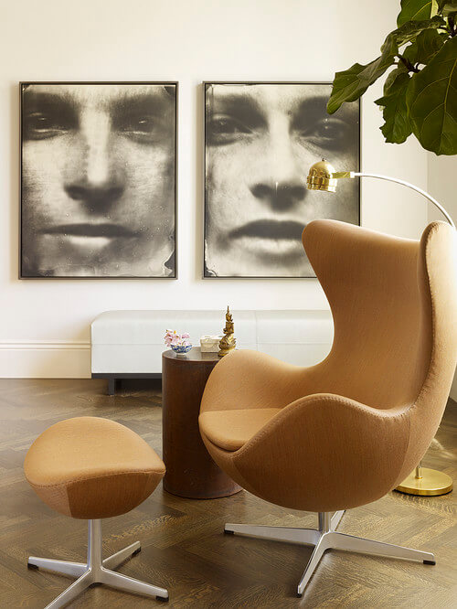 10 modern interiors featuring the iconic egg chair interior design