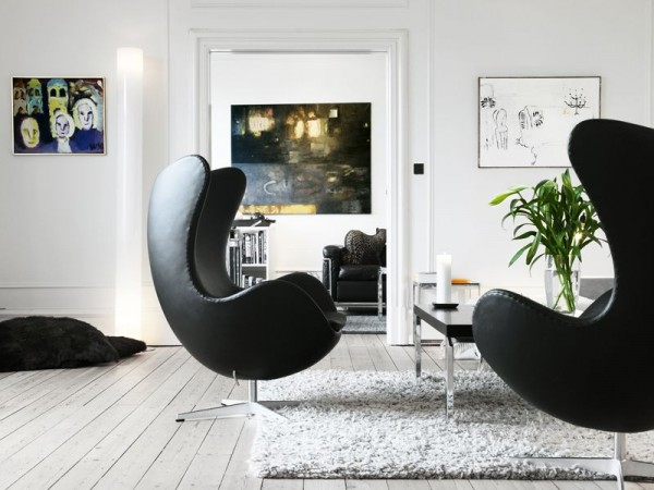 The Egg Chair by Arne Jacobsen and Fritz Hansen 10 600x450 10 Modern Interiors Featuring The Iconic Egg Chair