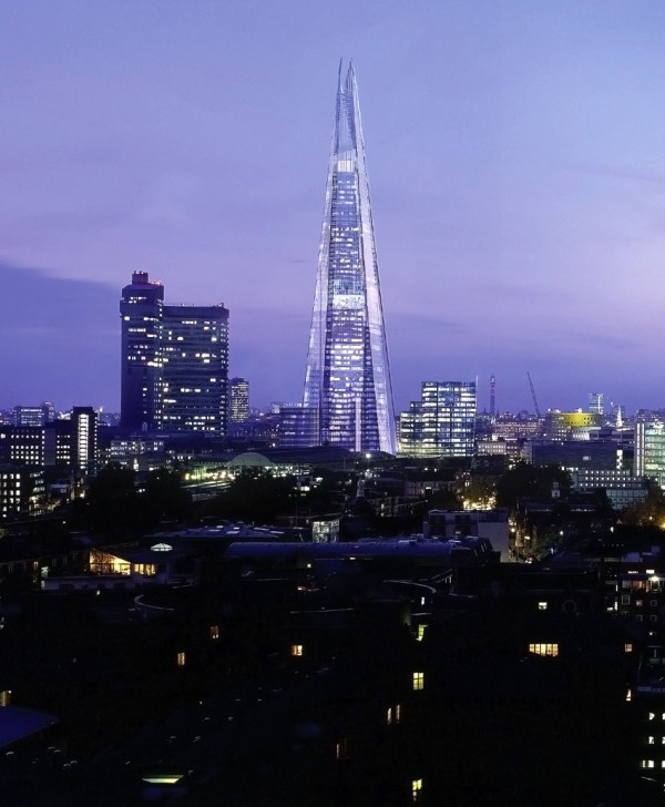 The Shard London by Renzo Piano 02 600x728 The Shard Skyscraper, Europe's Tallest Building Unveiled in London